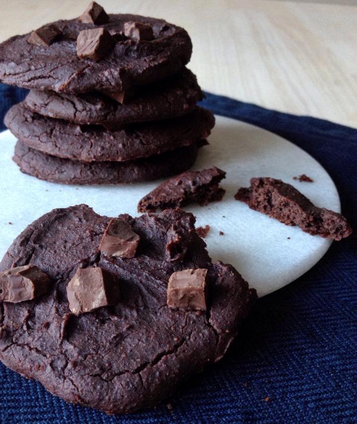 sunde småkager med chokolade